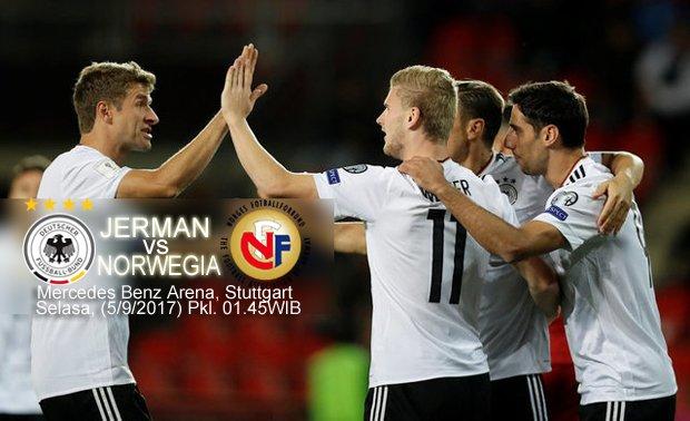timnas jerman, timnas norwegia, kualifikasi piala dunia 2018