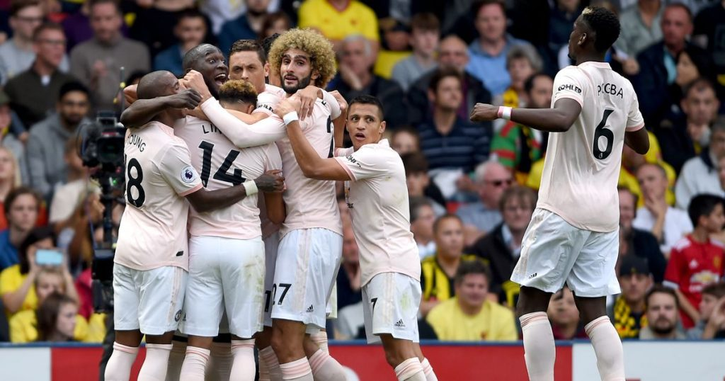 manchester united, watford, premier league, romelu lukaku, chris smalling, andre gray