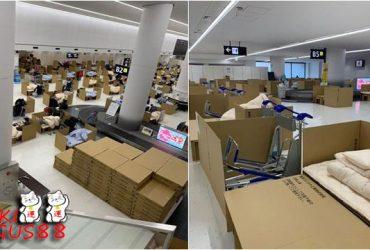 Cara Unik Jepang Jadikan Bandara Lokasi Karantina Corona, Tempat Tidur dari Karton